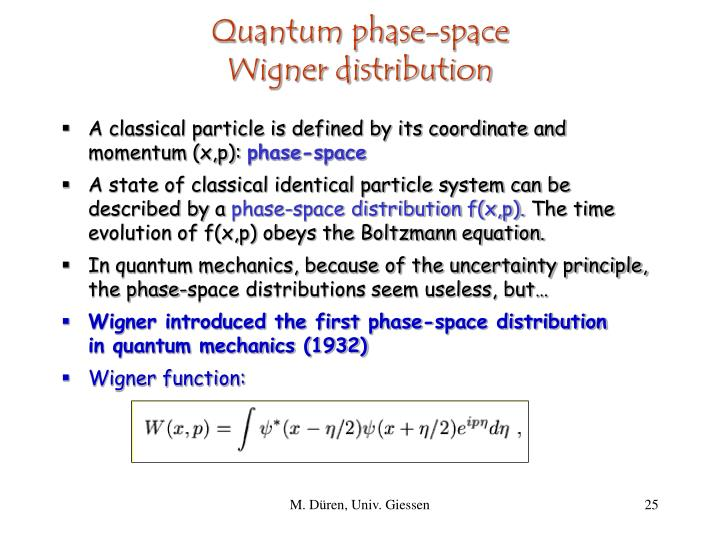 Quantum phase-space