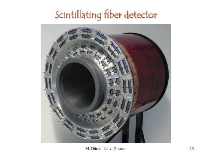 Scintillating fiber detector