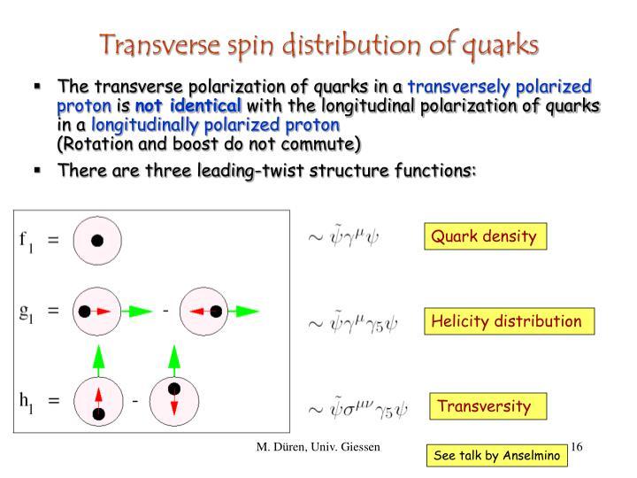 Quark density