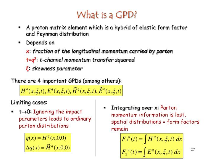 What is a GPD?