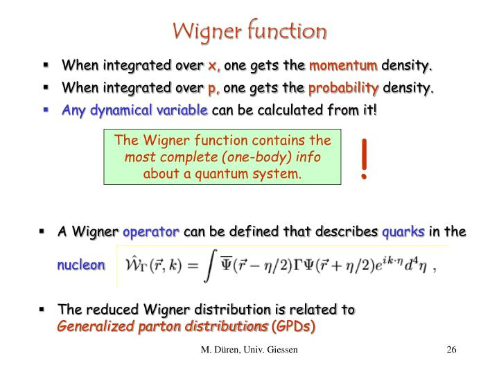 Wigner function