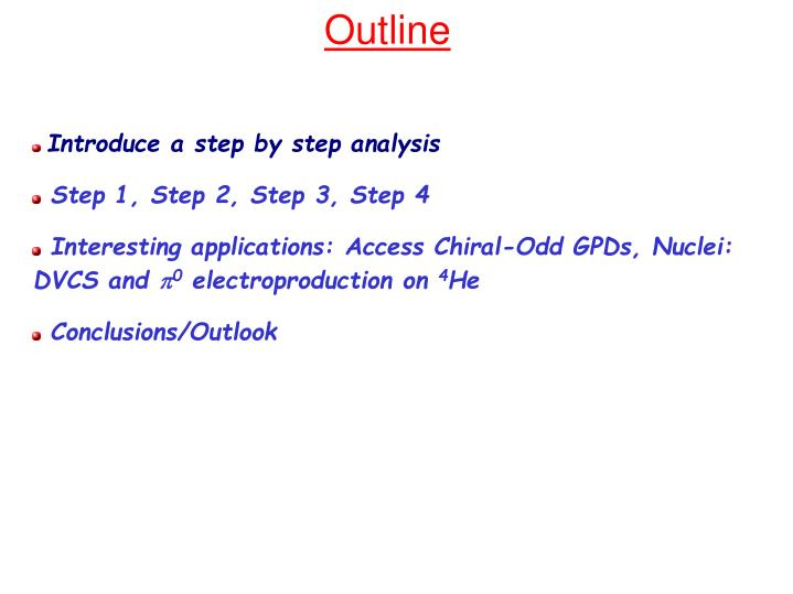 Introduce a step by step analysis