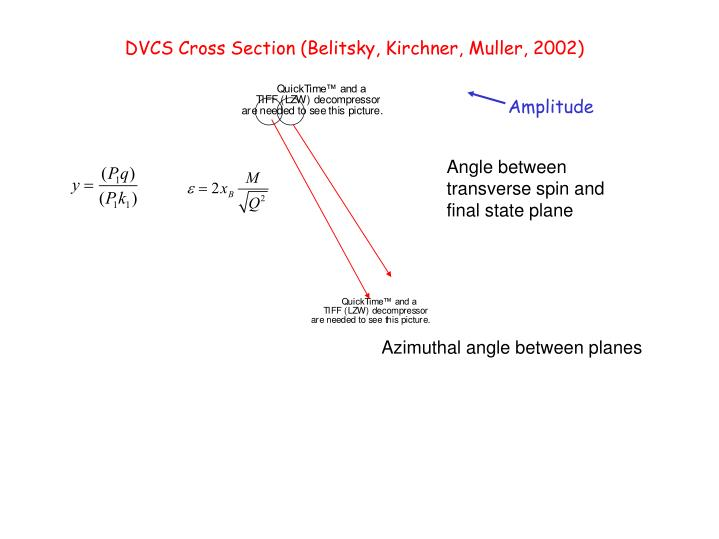DVCS Cross Section (Belitsky, Kirchner, Muller, 2002)