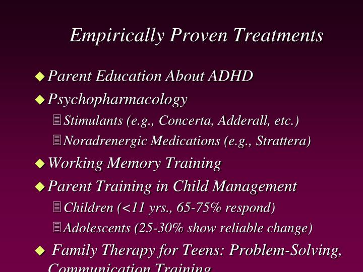 Empirically Proven Treatments