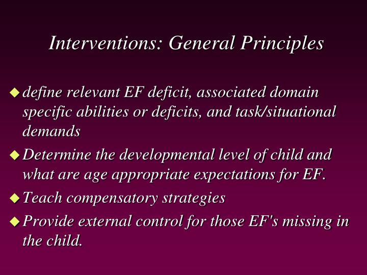 Interventions: General Principles