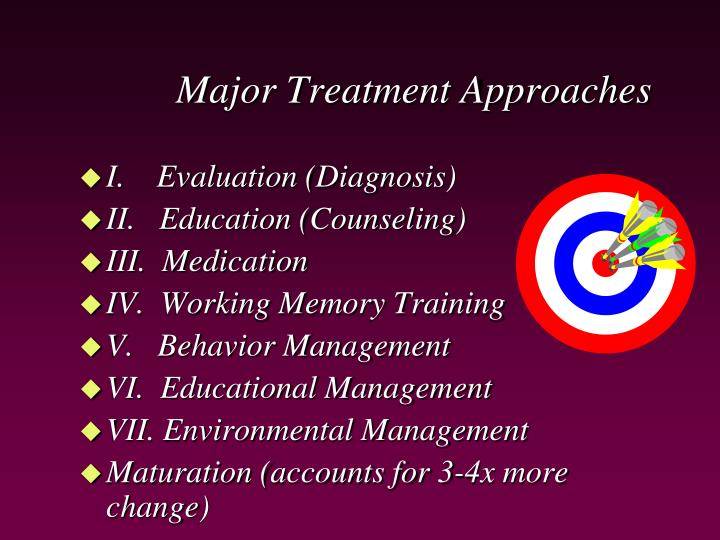 Major treatment approaches