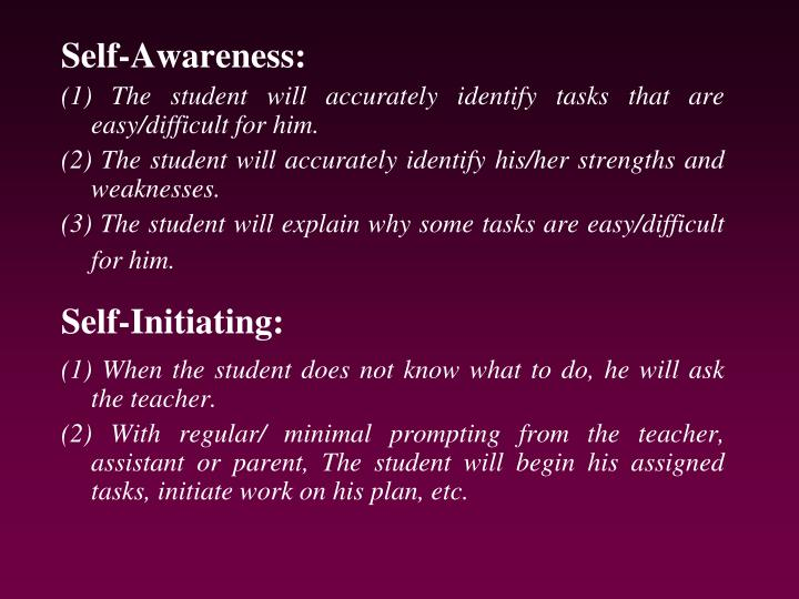 Self-Awareness: