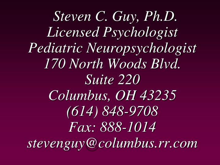Steven C. Guy, Ph.D.