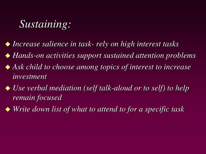 Sustaining: