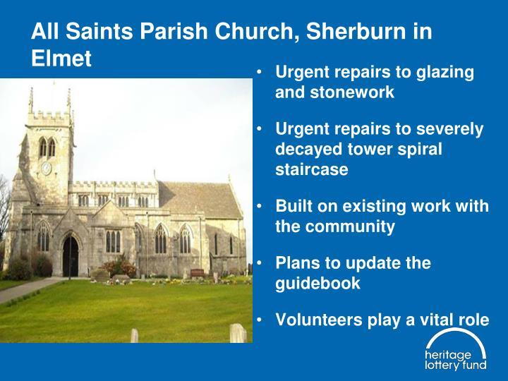 All Saints Parish Church, Sherburn in Elmet