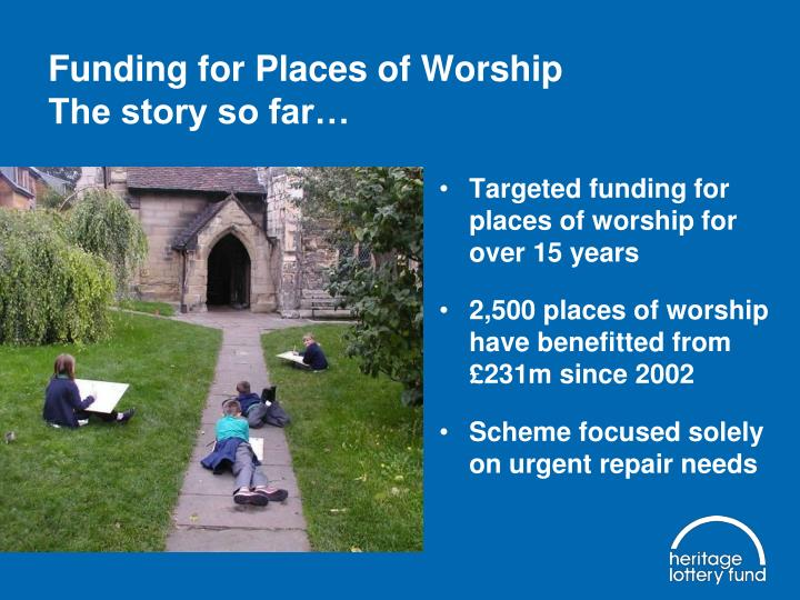 Funding for Places of Worship