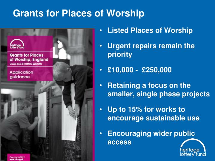 Grants for Places of Worship