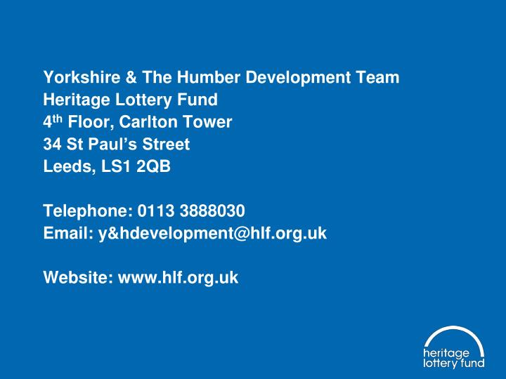 Yorkshire & The Humber Development Team