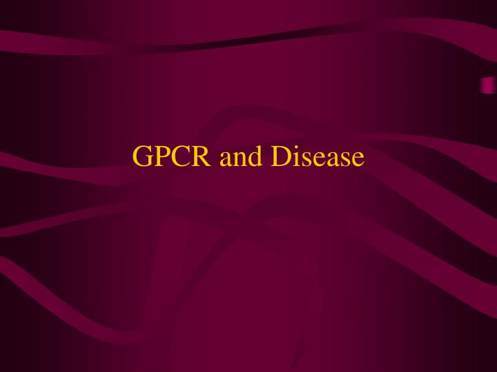 GPCR and Disease