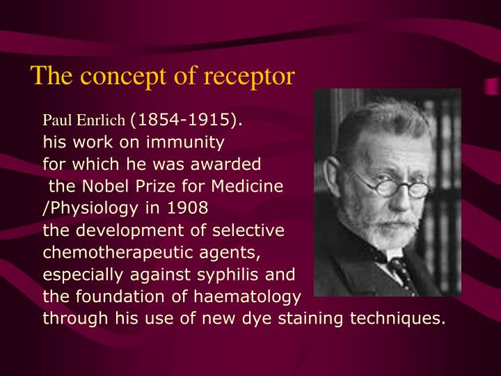 The concept of receptor