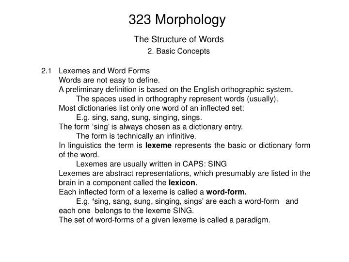 323 morphology
