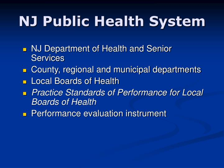 NJ Public Health System