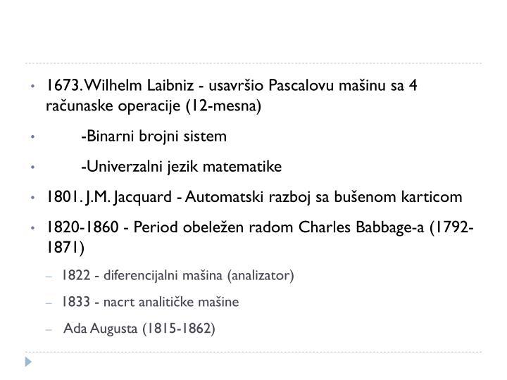 1673. Wilhelm