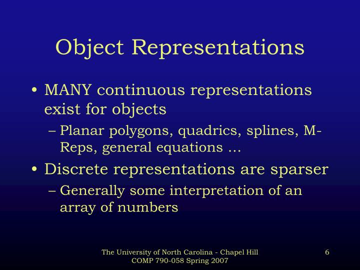 Object Representations