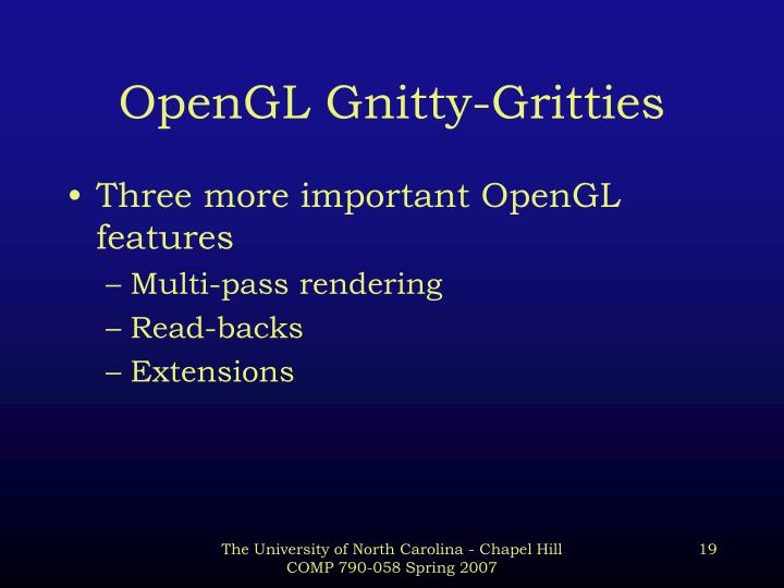 OpenGL Gnitty-Gritties