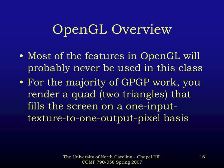 OpenGL Overview