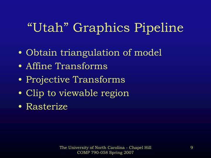 """Utah"" Graphics Pipeline"