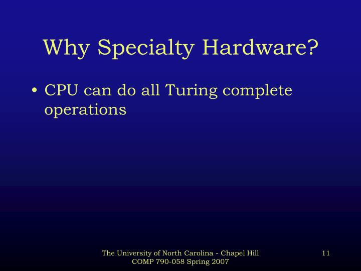Why Specialty Hardware?
