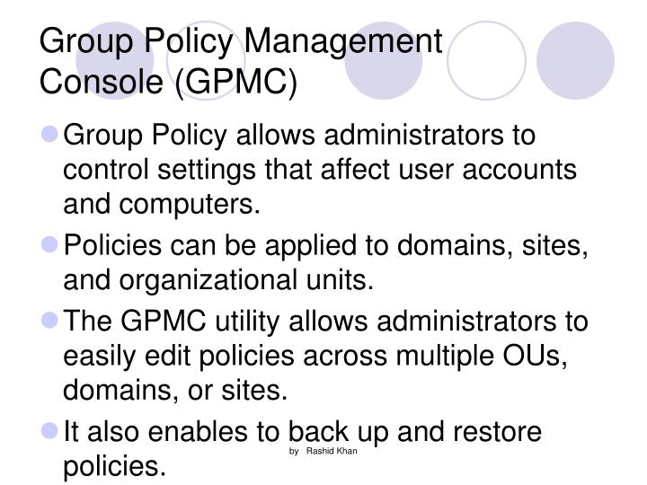 Group Policy Management