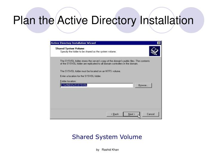 Plan the Active Directory Installation