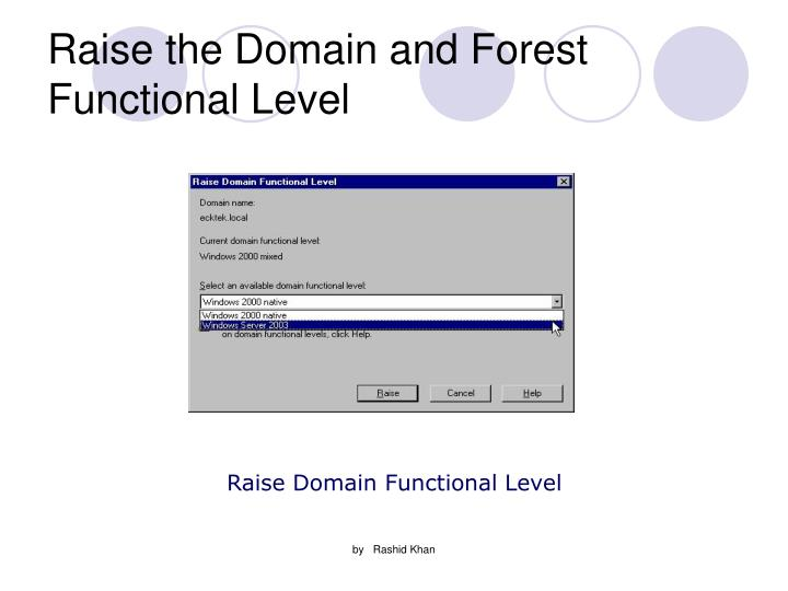 Raise the Domain and Forest