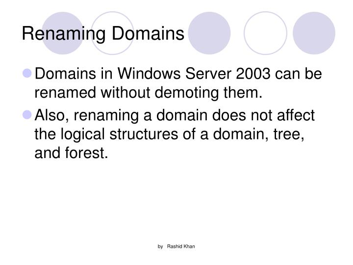 Renaming Domains