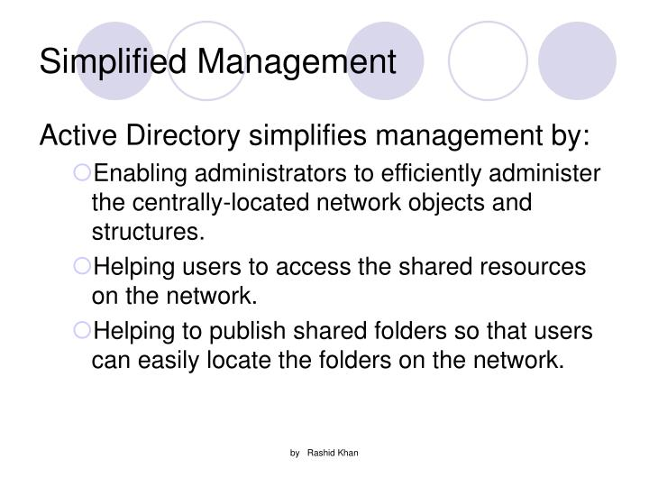 Simplified Management