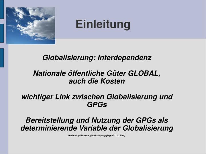 Globalisierung: Interdependenz