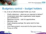 budgetary control budget holders2