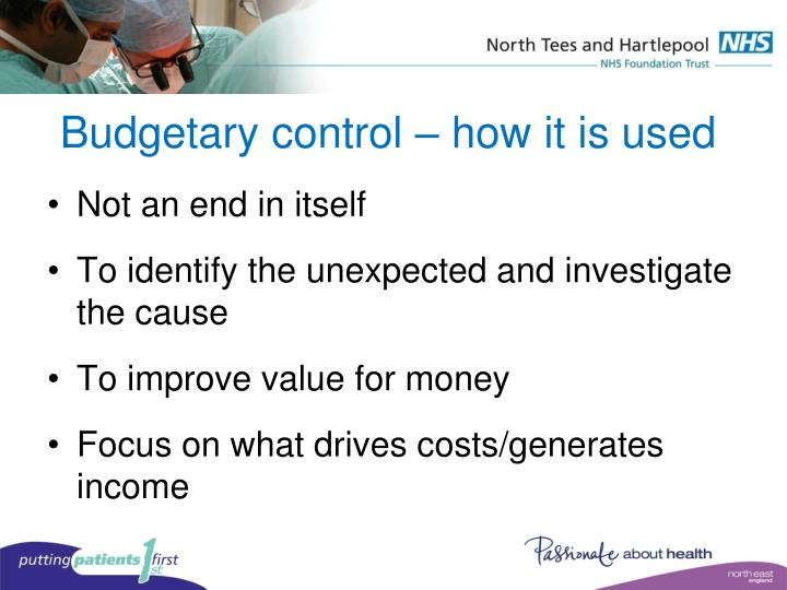 Budgetary control – how it is used