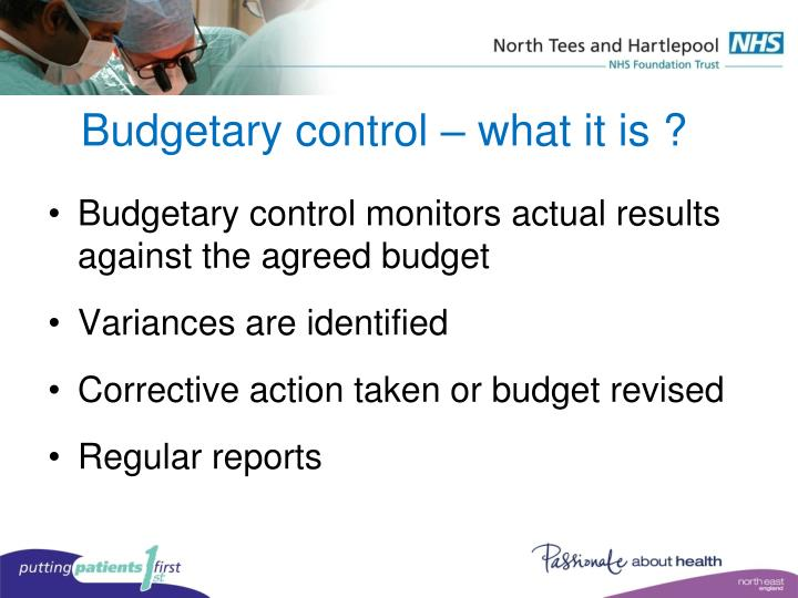Budgetary control – what it is ?