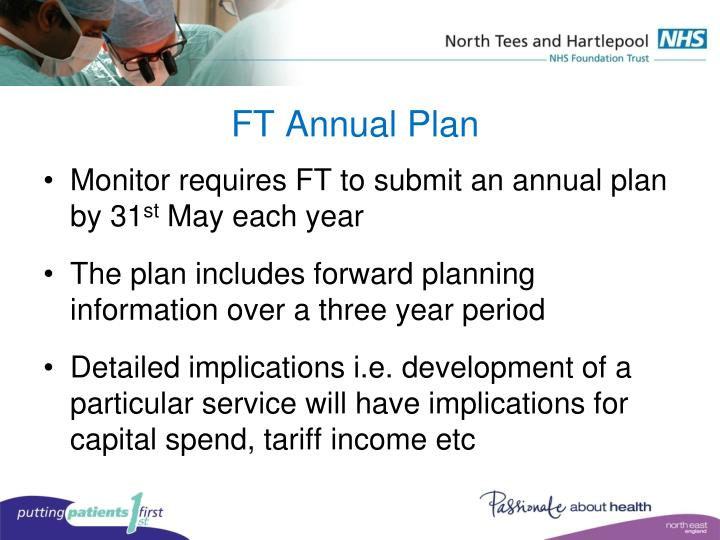 FT Annual Plan