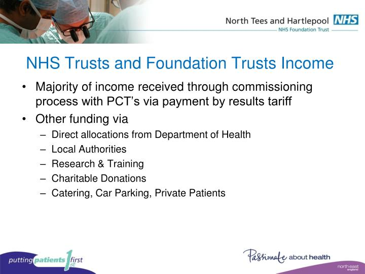 NHS Trusts and Foundation Trusts Income