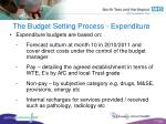 the budget setting process expenditure