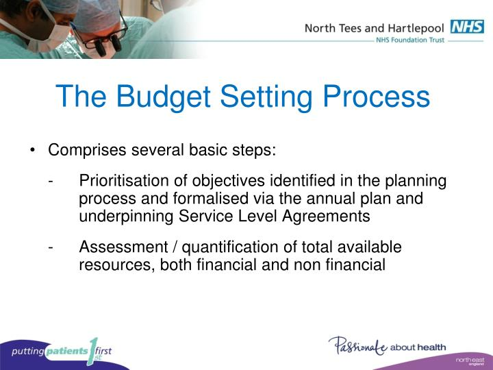 The Budget Setting Process
