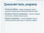 zpracov n textu programy