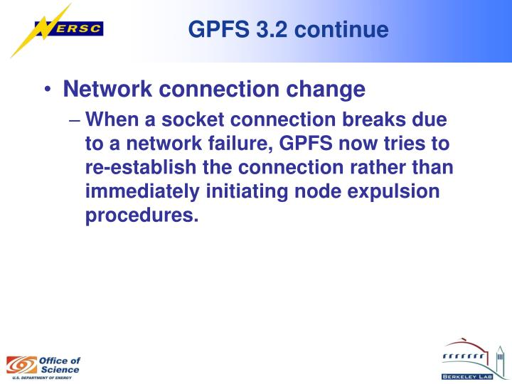 GPFS 3.2 continue