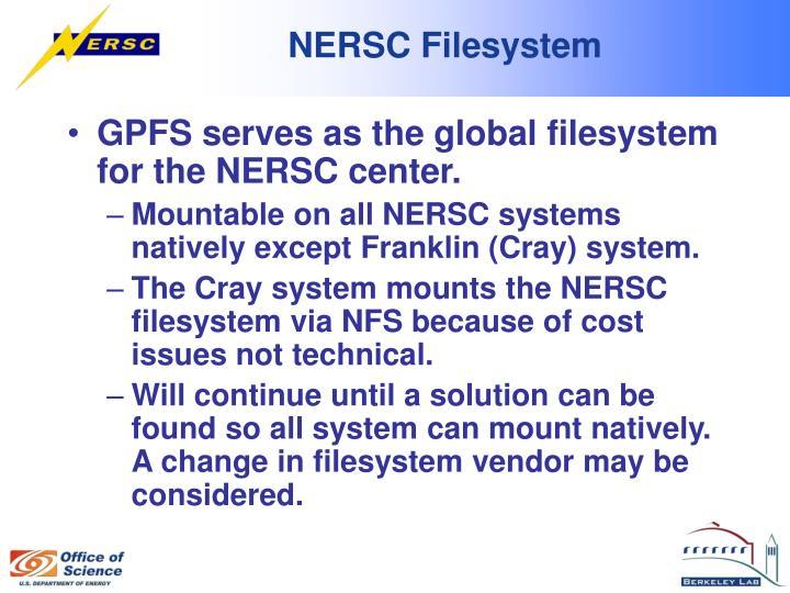 NERSC Filesystem