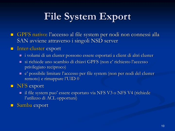 File System Export