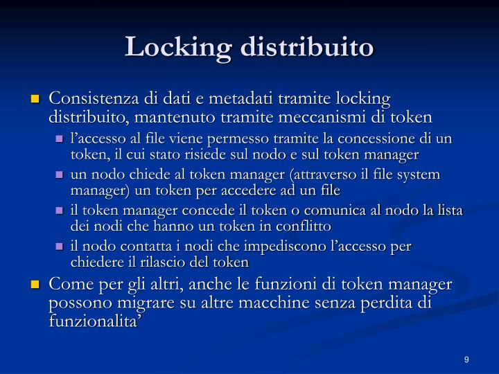 Locking distribuito
