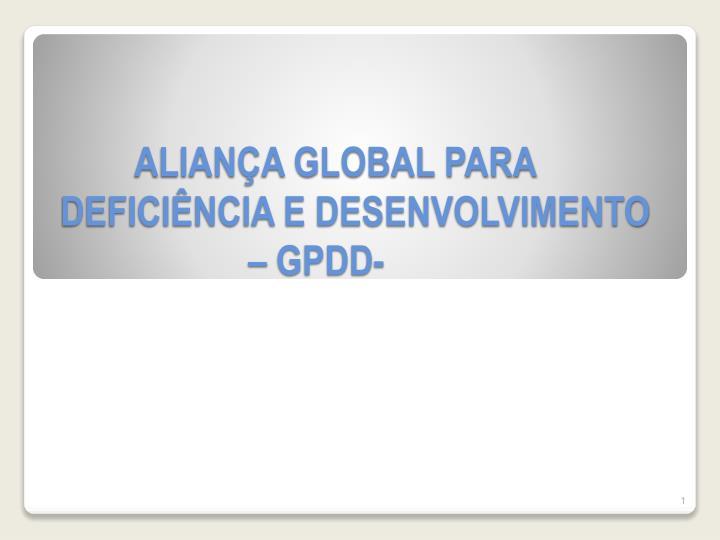 ALIANÇA GLOBAL PARA DEFICIÊNCIA E DESENVOLVIMENTO