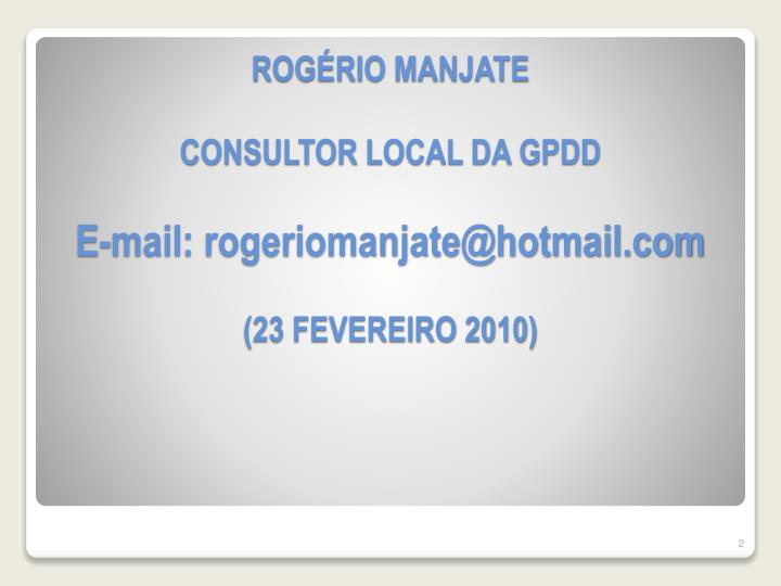 ROGÉRIO MANJATE