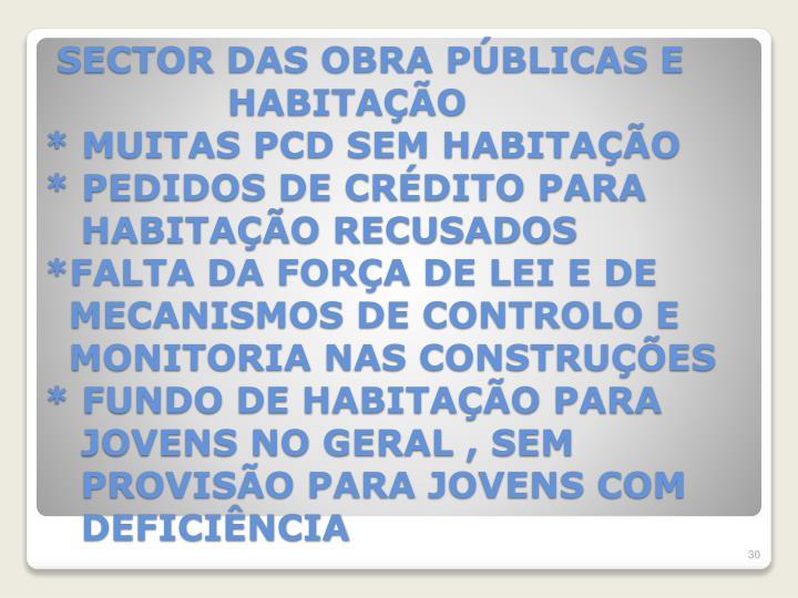 SECTOR DAS OBRA PÚBLICAS E