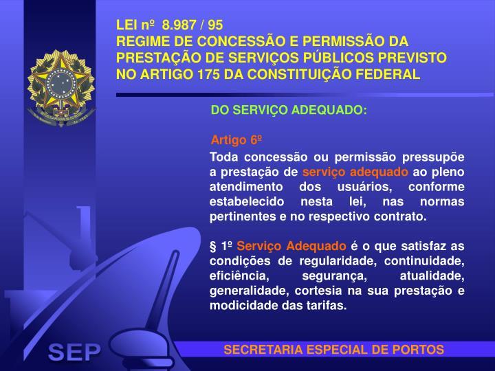 LEI nº  8.987 / 95
