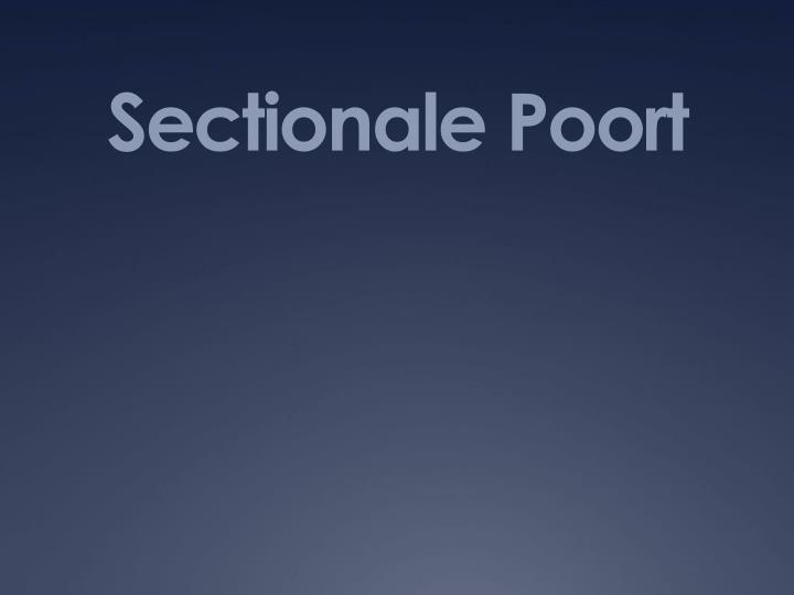Sectionale poort